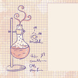 Old chemistry laboratory  background Royalty Free Stock Photo