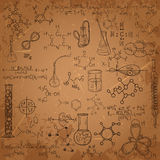 Old chemistry laboratory pattern set. Royalty Free Stock Photography