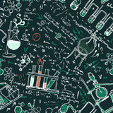 Old chemistry laboratory seamless pattern Stock Photography