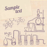 Old chemistry laboratory vintage background Stock Photo