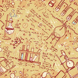 Old chemistry laboratoryess pattern seaml Stock Images