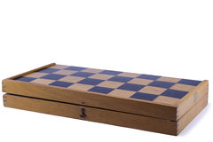 Old chess board isolated Stock Photography