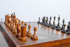 Old chess Board. Royalty Free Stock Photos