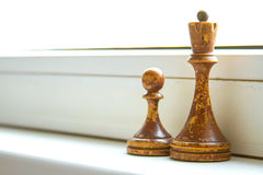 Old chess Board. Royalty Free Stock Images