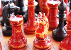 Old chess Royalty Free Stock Photos