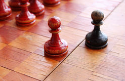 Old chess. Firure close up image Stock Image