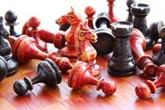 Old chess. Firure close up image Stock Photos