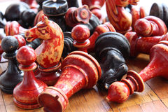 Old chess. Firure close up image Stock Photo
