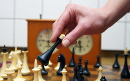 Old chess pieces closeup. Old chess pieces close up Royalty Free Stock Images