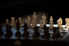 Old chess set Royalty Free Stock Photography