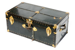 Old chest. Vintage travel chest Royalty Free Stock Photos