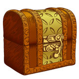 Old chest. Picture of the old wrought-chest, this illustration may be useful as designer work royalty free illustration