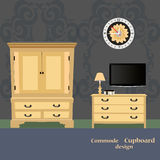 Old chest of drawers Royalty Free Stock Photography