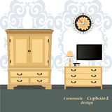 Old chest of drawers Royalty Free Stock Images