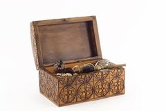 Old chest of jewels Royalty Free Stock Image
