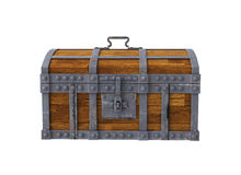 Old chest on white background Stock Image