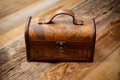 Old chest Stock Images