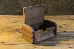 Old chest on wooden table still life Royalty Free Stock Image