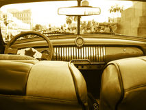 Old chevrolet car interior. Old chevrolet car in old  Havana, Cuba Royalty Free Stock Image