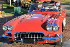 Old Chevrolet Corvette Car. The old Chevrolet Corvette car at the show Royalty Free Stock Image