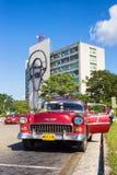 Old Chevrolet in the Revolution Square in Havana Royalty Free Stock Image