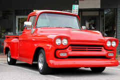 The old Chevrolet Truck. At the car show Royalty Free Stock Photo