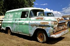 Old Chevy Apache cargo van Royalty Free Stock Image