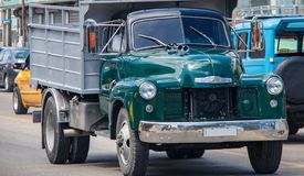 An Old Chevy Truck in Cuba royalty free stock photos