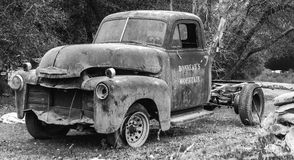 Old Chevy Truck. Of Lake Camanche, CA advertising Bonneau's Mountain Royalty Free Stock Images