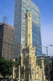 Old 1869 Chicago Water Tower, Chicago, Illinois Royalty Free Stock Images