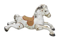 Old child's hobbyhorse isolated. Royalty Free Stock Image