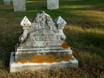 Old Child's Tombstone Royalty Free Stock Photos