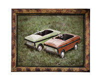 Old children cars Royalty Free Stock Image