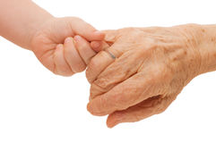 Old and children hands Stock Image