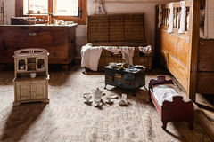 Old children room. Interior of old children room Stock Images