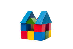Old children's building blocks Stock Photography