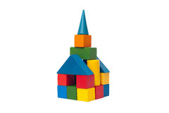 Old children's building blocks Royalty Free Stock Image