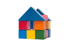 Old children's building blocks Royalty Free Stock Images