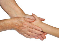 Old and children's hands Royalty Free Stock Photography