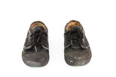 Old children sneakers on white background Stock Photography