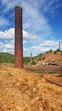 Old Chillago smelter 1. Remains of the old Chillago smelter at Chillago Stock Images