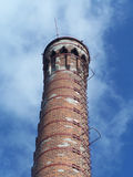 Old chimney. Detail view of top part of old brick chimney royalty free stock photos