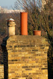 Old chimney. Stack pots. London suburbs Stock Photography