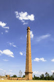 Old Chimney with Blue sky white cloud Royalty Free Stock Photos