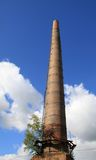 Old chimney of red bricks Stock Photography