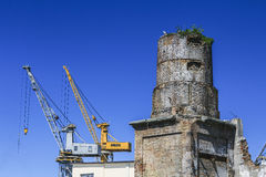 An old chimney. Royalty Free Stock Photo