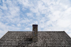 Old chimney on the roof. Picture taken in Kudowa Zdrój Royalty Free Stock Photography