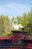 Old chimney and smoke Royalty Free Stock Photos