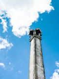 Old chimney of Thai cemetery. In temple Stock Photo