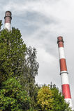 Old chimneys Silesia Royalty Free Stock Images
